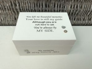 Personalised In Memory Of Box Loved One ~ AUNTIE AUNTY any Name Bereavement Loss - 253575349849